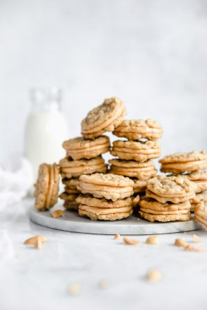 Halfway to Heaven Peanut Butter Cookies: this recipe is nearly all in halves, which makes it super easy to remember. And they're beyond heavenly!