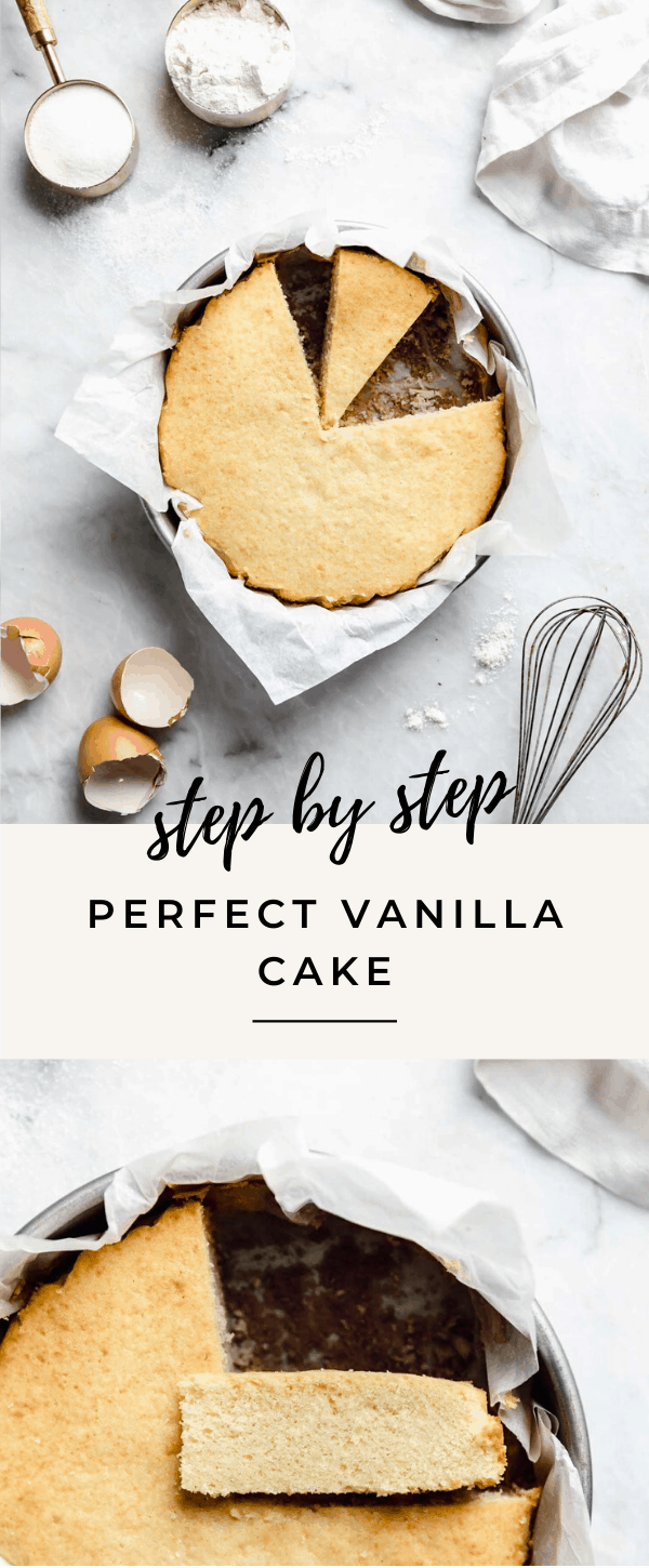 we're breaking down how to make the best vanilla cake ever. With step by step photos to take out annnny guesswork.