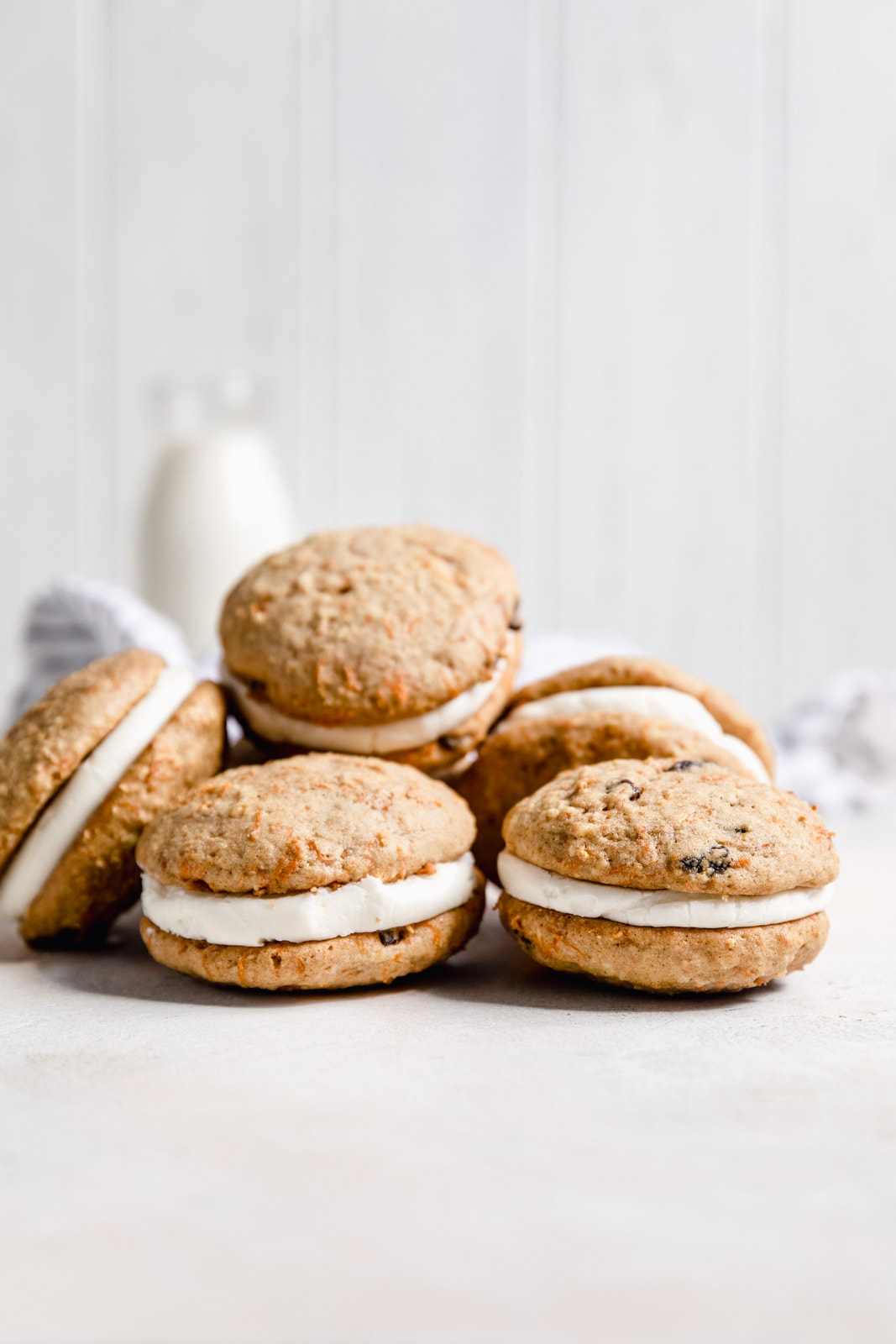 These carrot cake sandwich cookies take all your favorite flavors from classic carrot cake into a transportable sandwich. Perfect for Easter or any time!