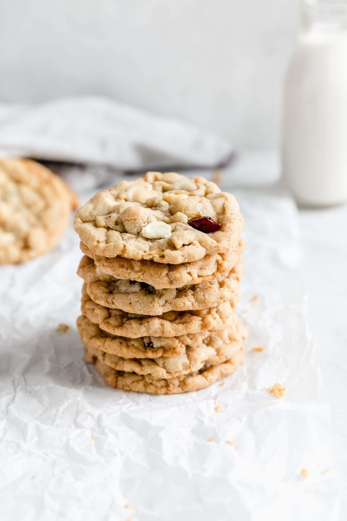 The best chewy white chocolate cranberry macadamia nut cookies