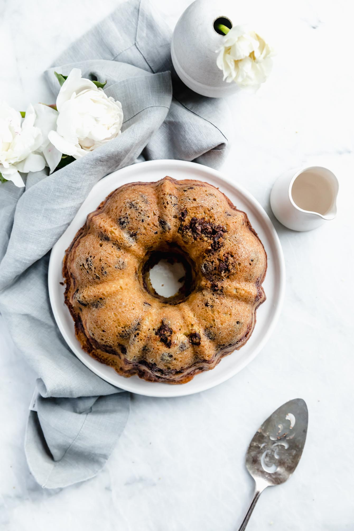 I love a good dessert disguised as breakfast. This buttery and moist Cinnamon Chocolate Chip Coffee Cake is sure to make your morning a little sweeter.