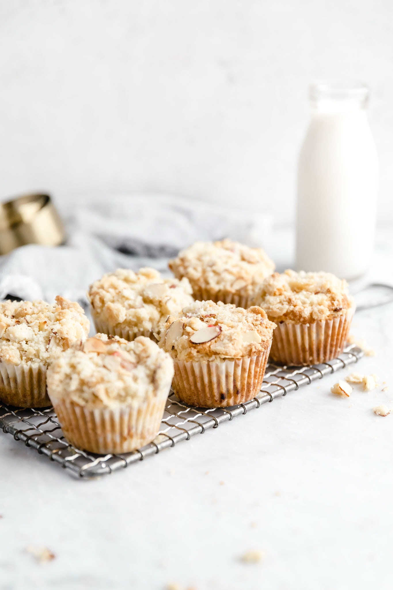 Looking for your new favorite spring muffin recipe? We gotcha covered. These Almond rhubarb muffins are tender, moist and packed with chunks of rhubarb. YUM