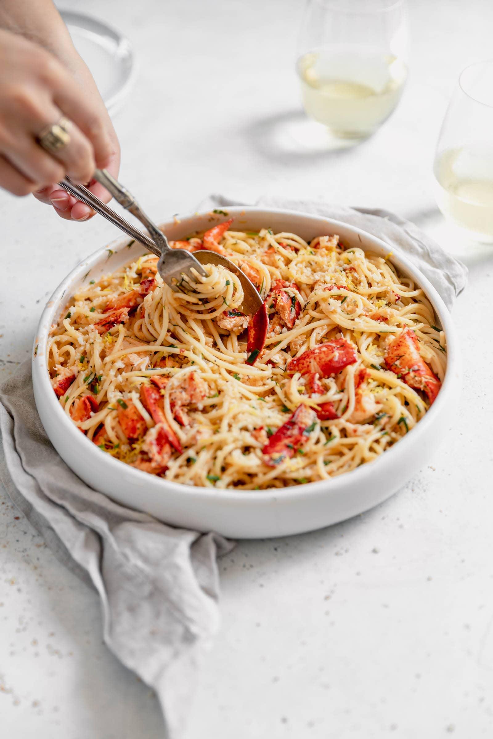 lobster pasta twirl