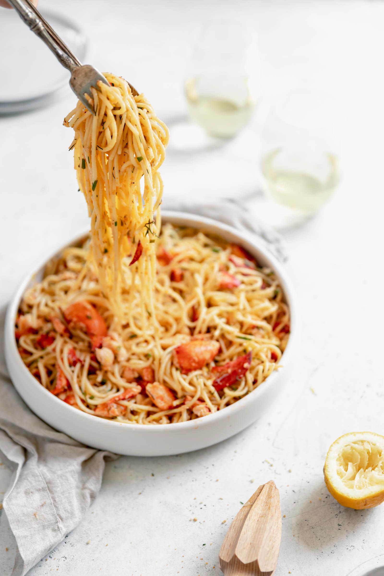 lobster roll pasta pull