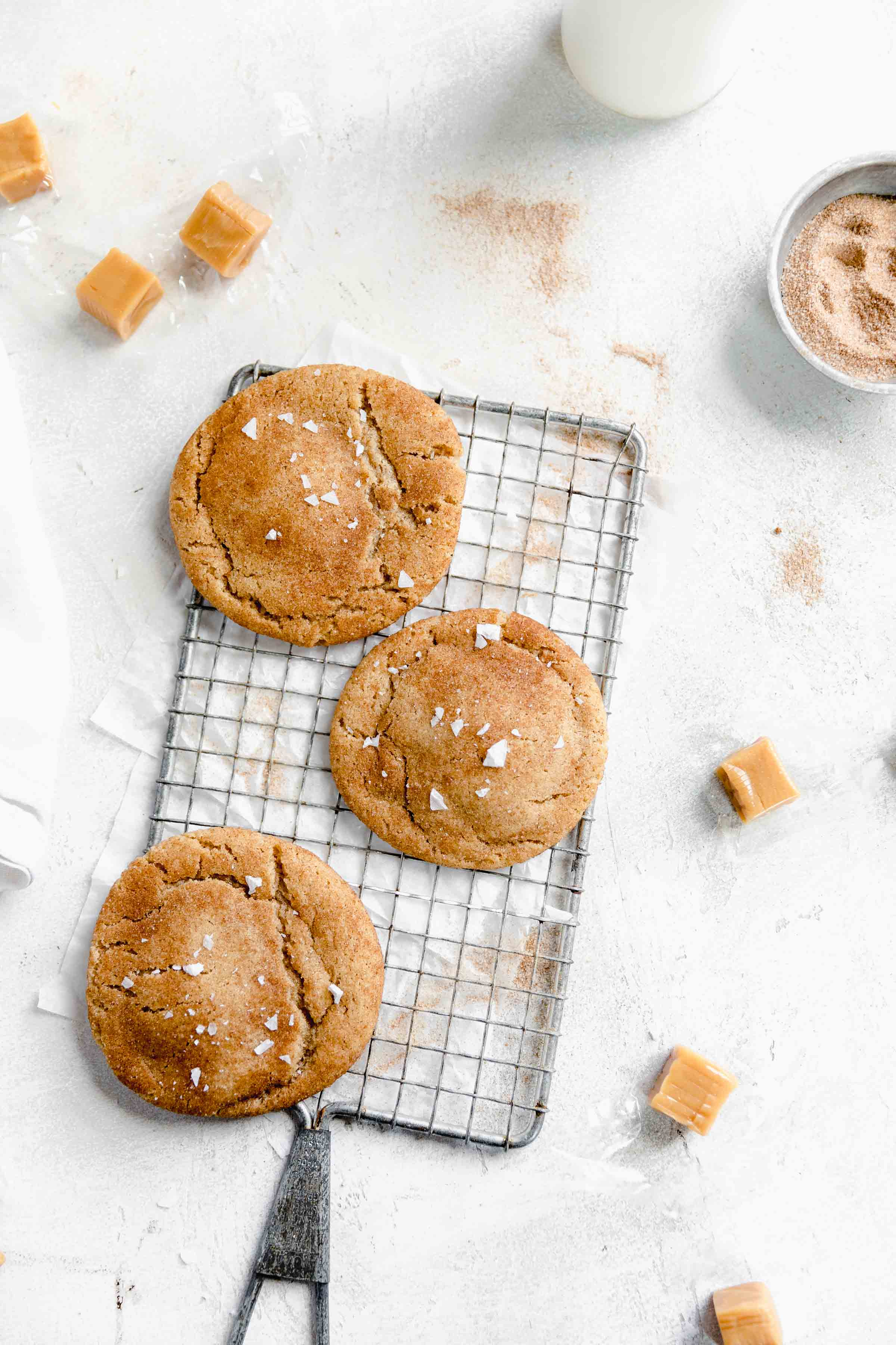 These sinfully delicious caramel stuffed snickerdoodles are our new favorite cookie