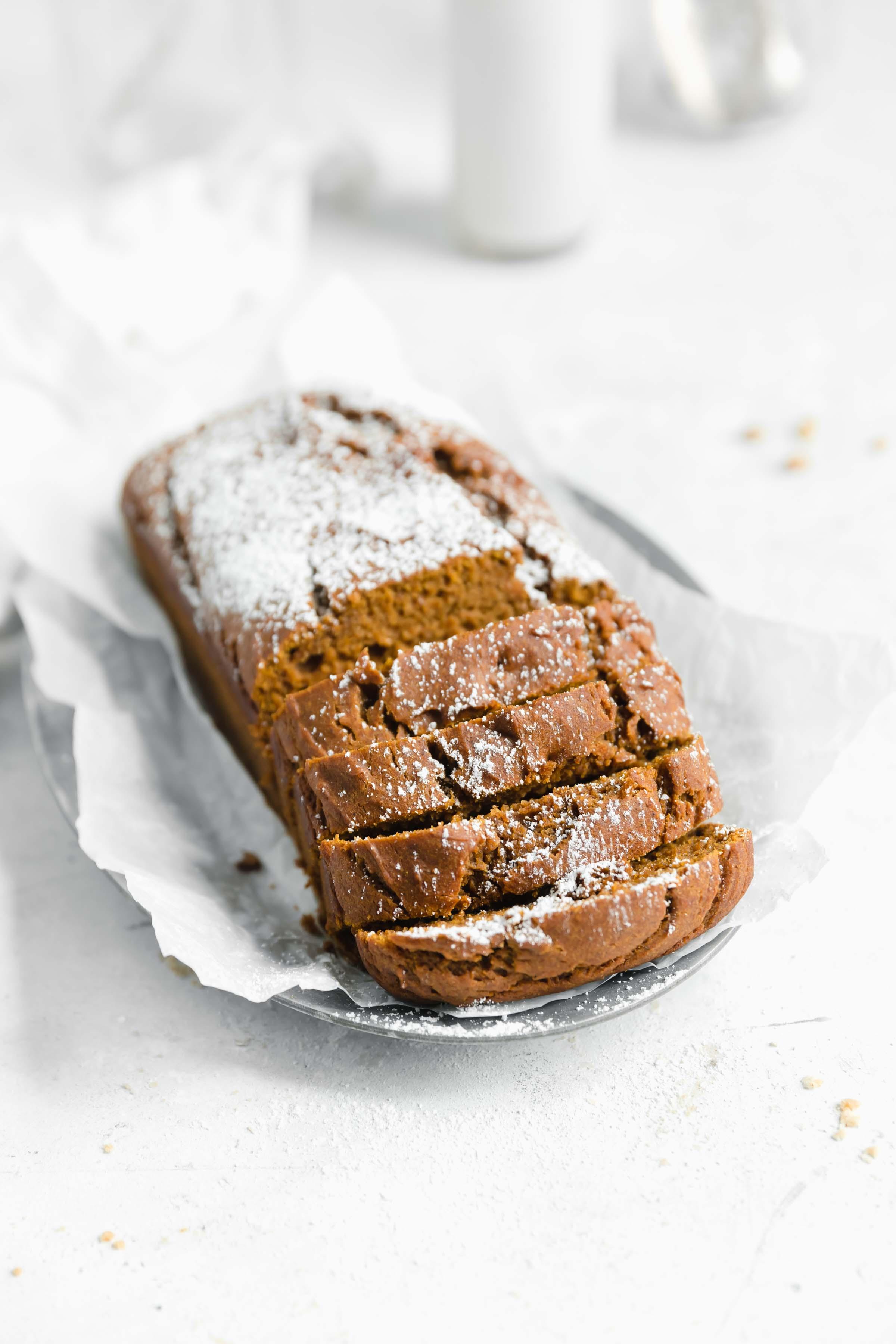 healthy g free pumpkin bread slices