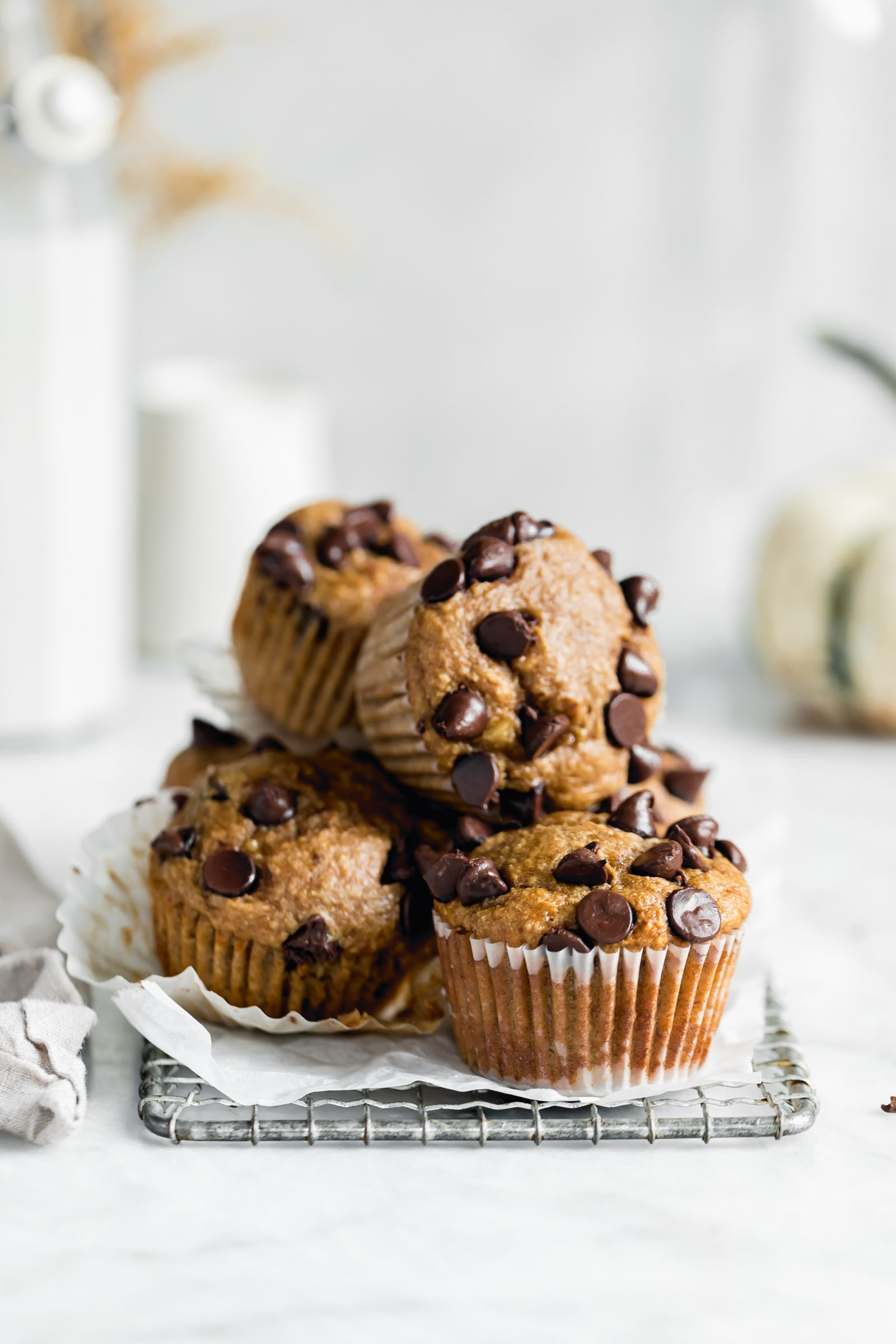 1 bowl, 6 ingredients, healthy peanut butter banana muffins are grain free, gluten free, packed full of protein and simply delicious