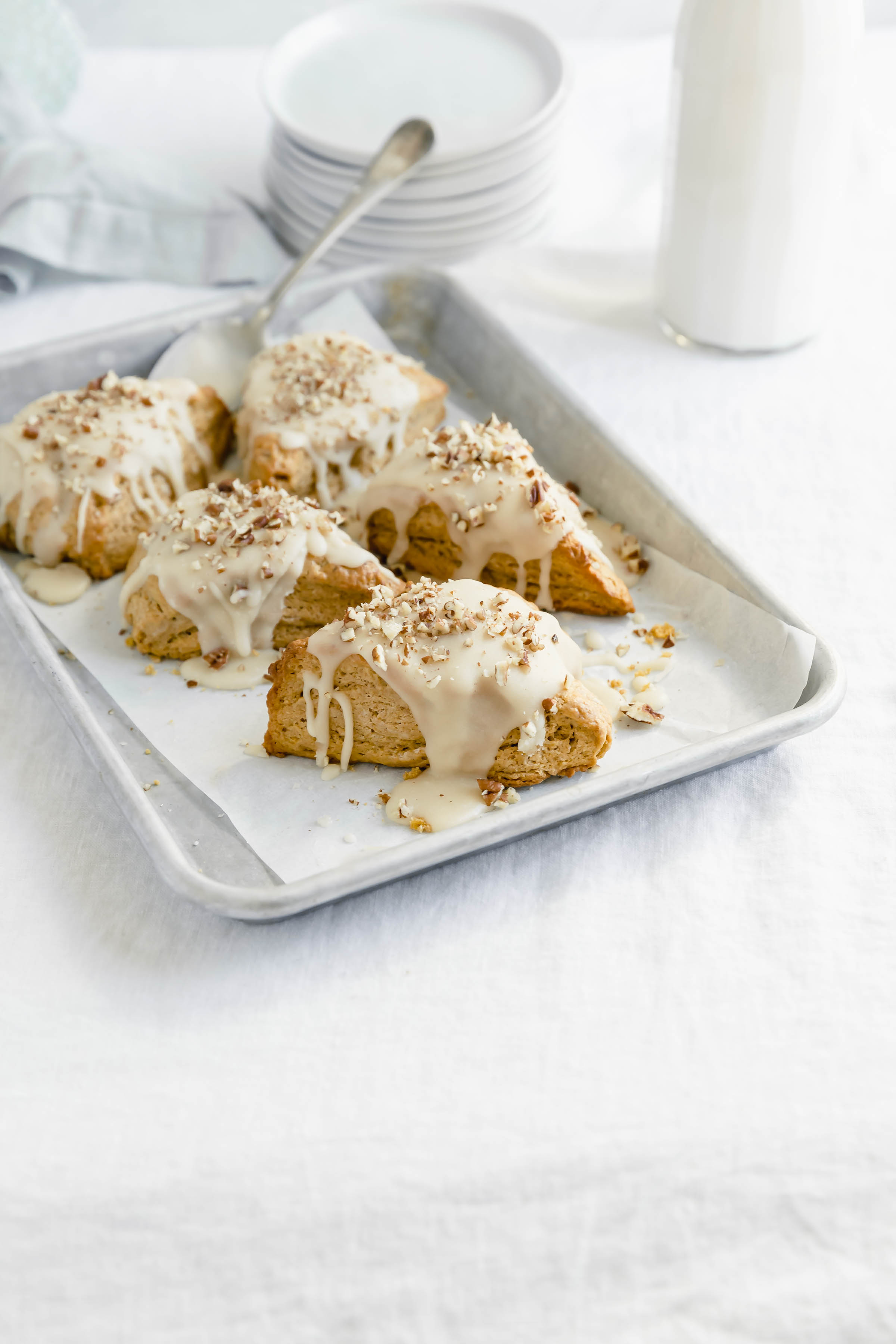 this pumpkin scone recipe for the moist and delicious scones you'll ever have!