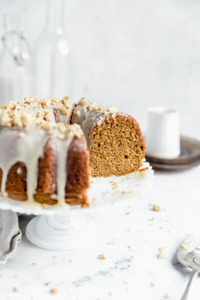 This maple sweet potato bundt cake has the silkiest, dreamiest crumb. Perfect for this Holiday season and great for a crowd!