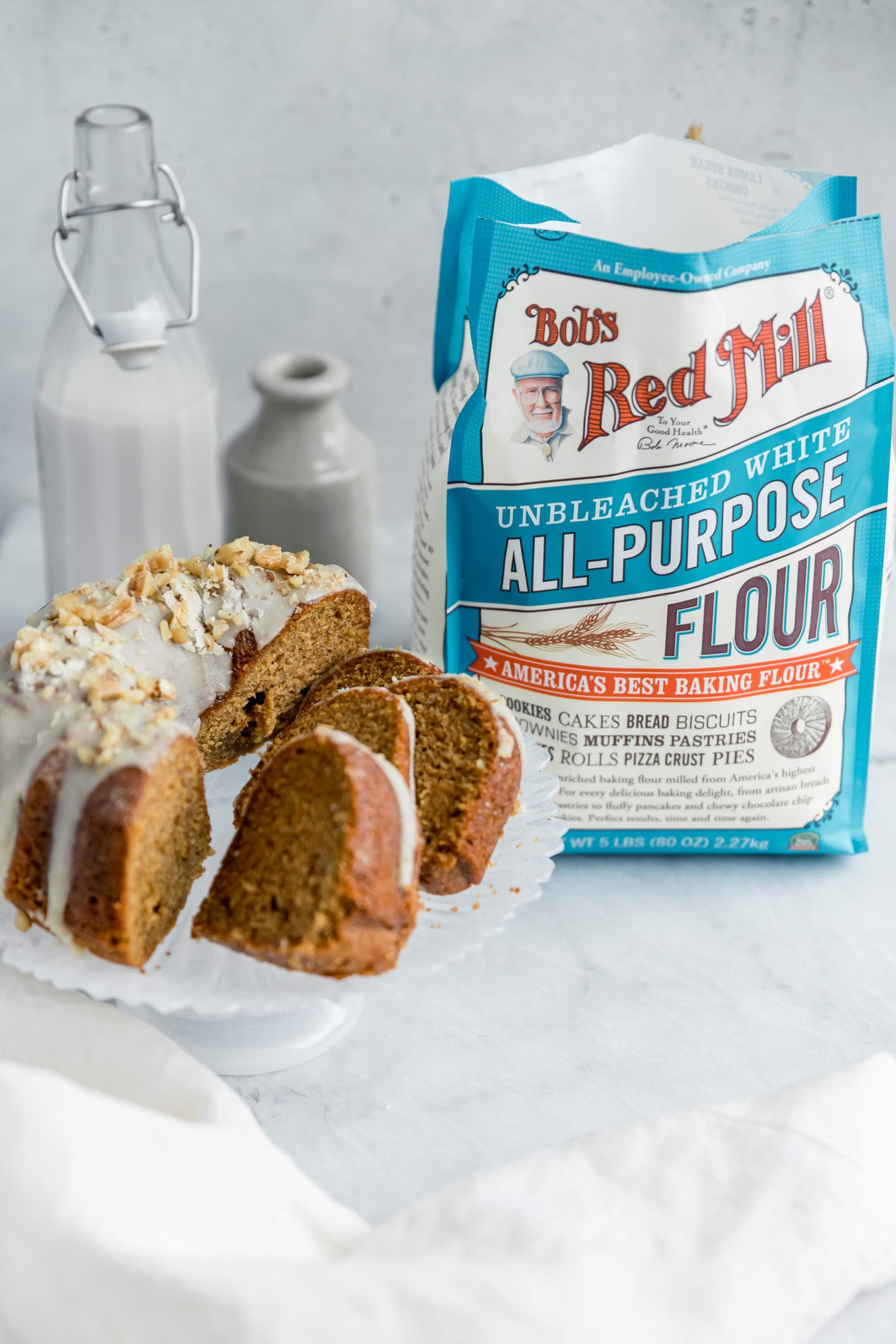 sweet potato bundtc ake with bob's flour