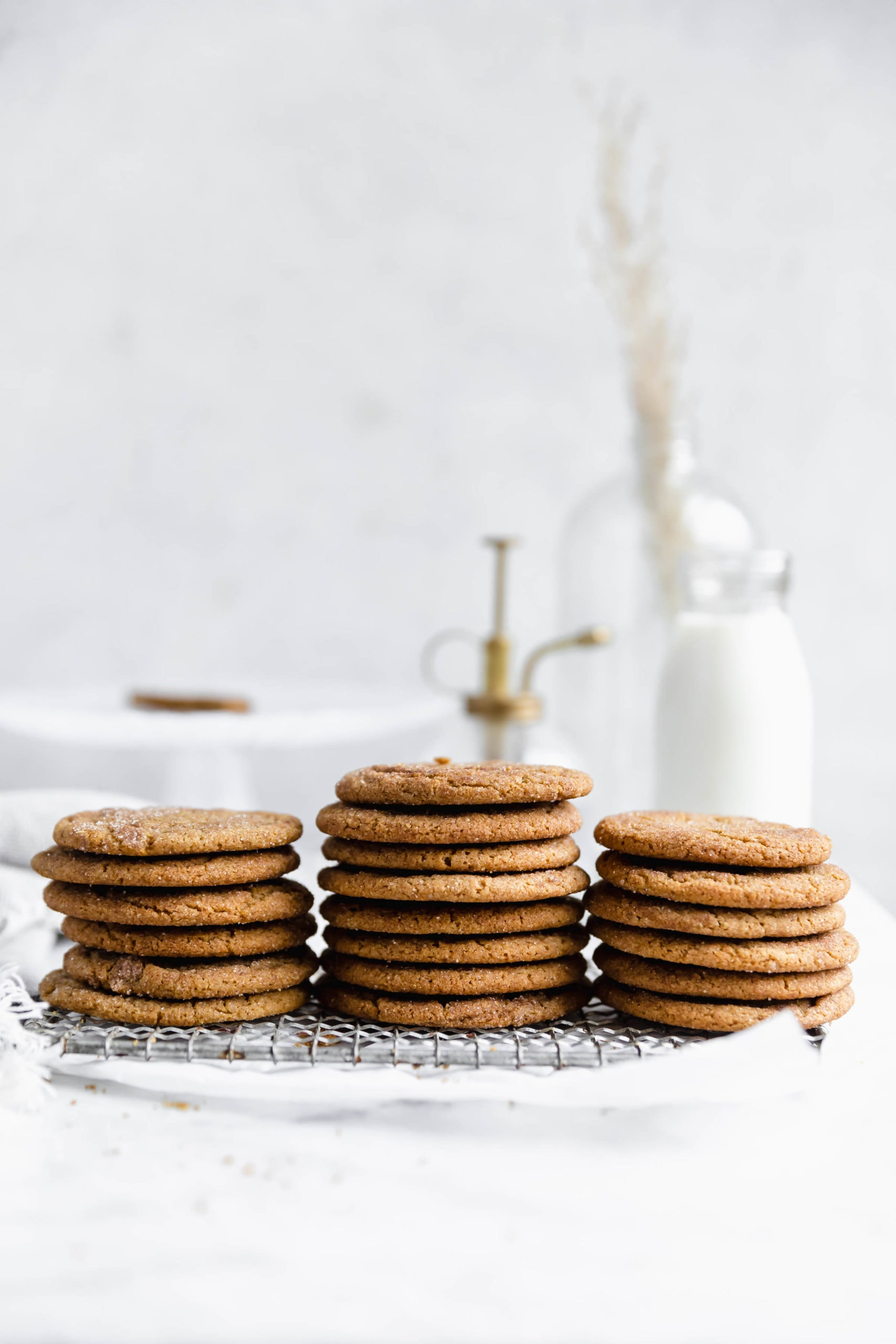 stacks of ginger snickerdoodles