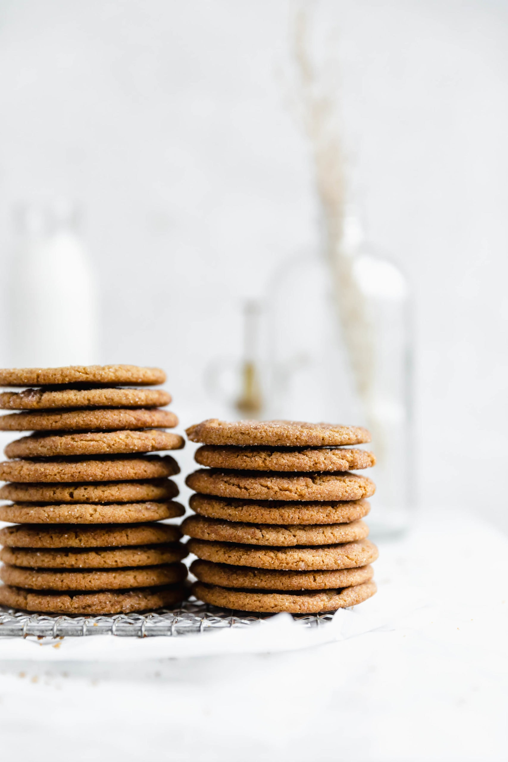stacks of ginger snickerdodoles
