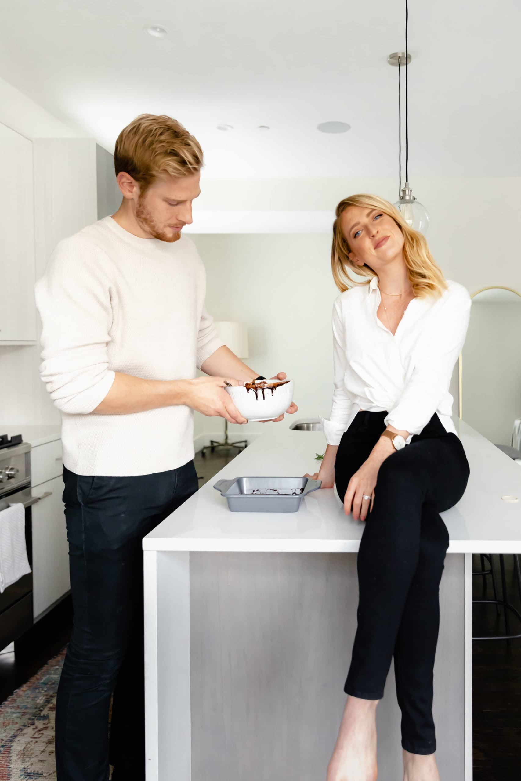 couple in kitchen holiday entertaining