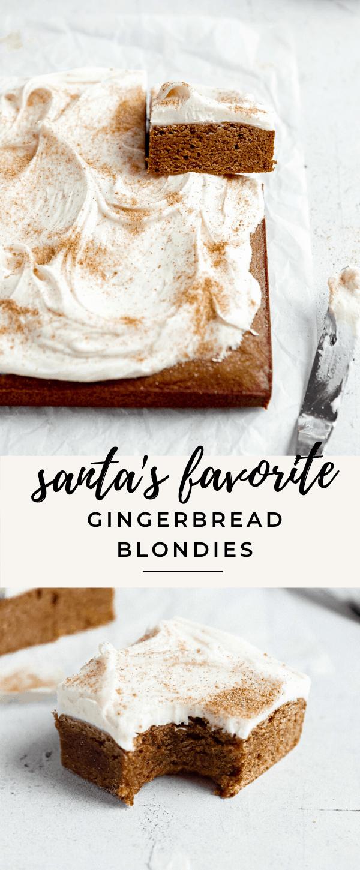 Easy gingerbread blondies for Santa!