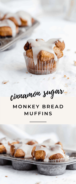cinnamon sugar monkey bread muffins pin