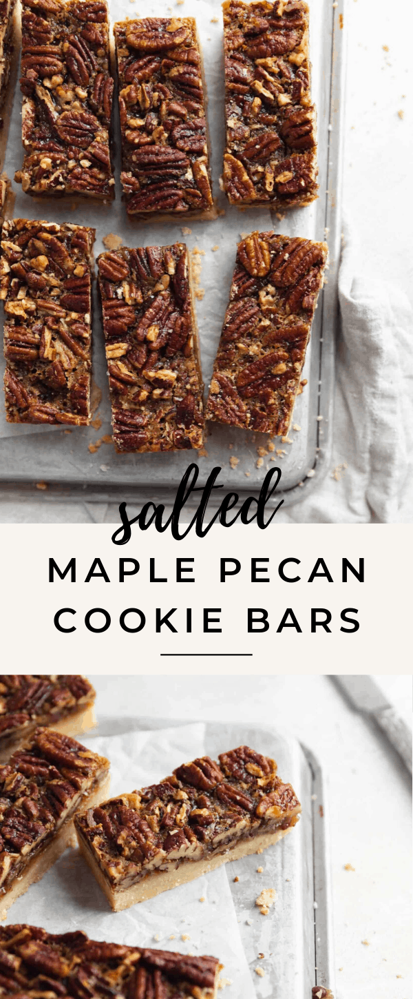 salted maple pecan cookie bars recipe