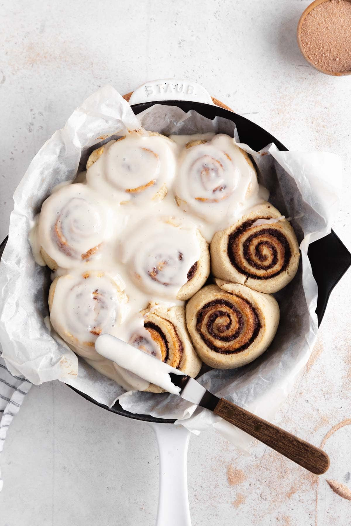 gluten free vegan cinnamon rolls with dreamy cream cheese icing