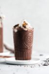 easy homemade hot chocolate for one topped with torched marshmallows