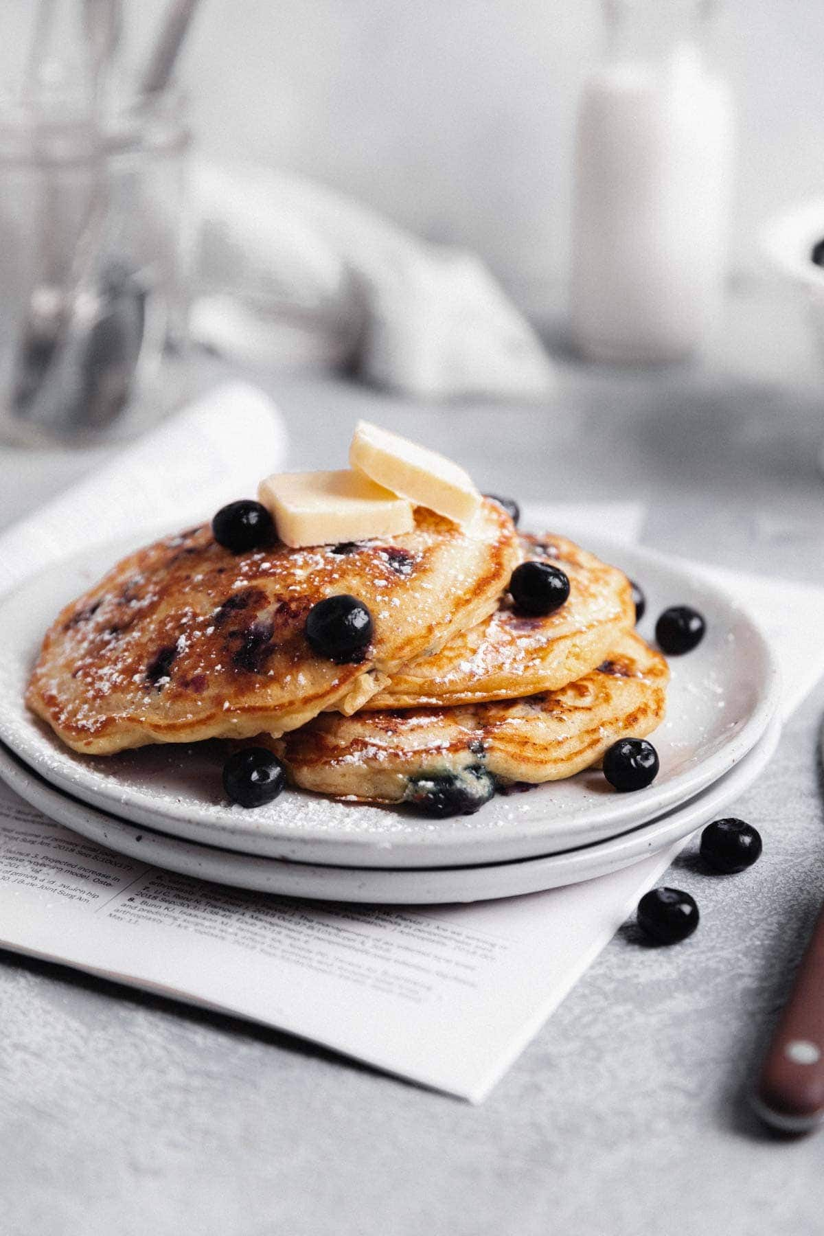 fluffy blueberry pancakes recipe