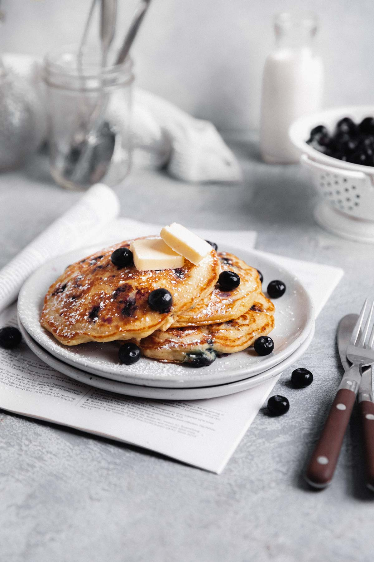 blueberry pancakes breakfast