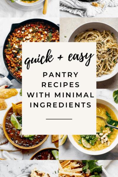 pantry recipes for quarantine
