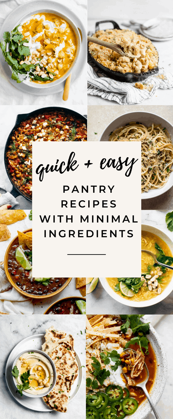 pantry recipes for quarantine