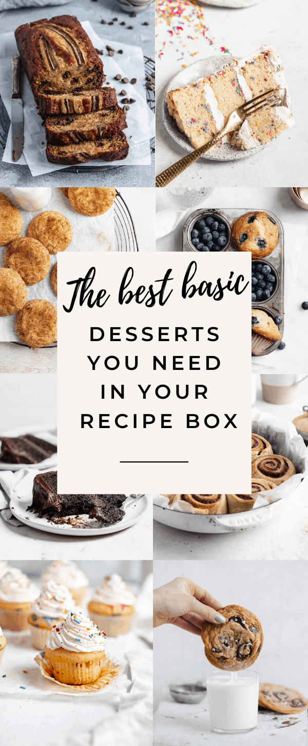 classic easy desserts every home baker needs
