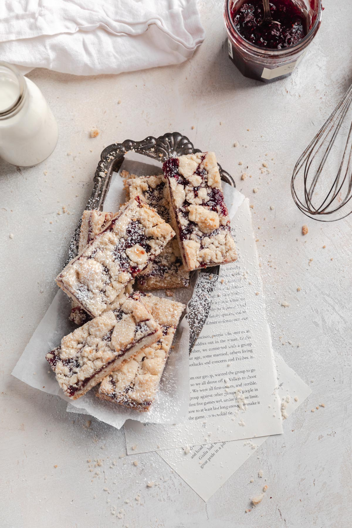 jam bars with shortbread crumble