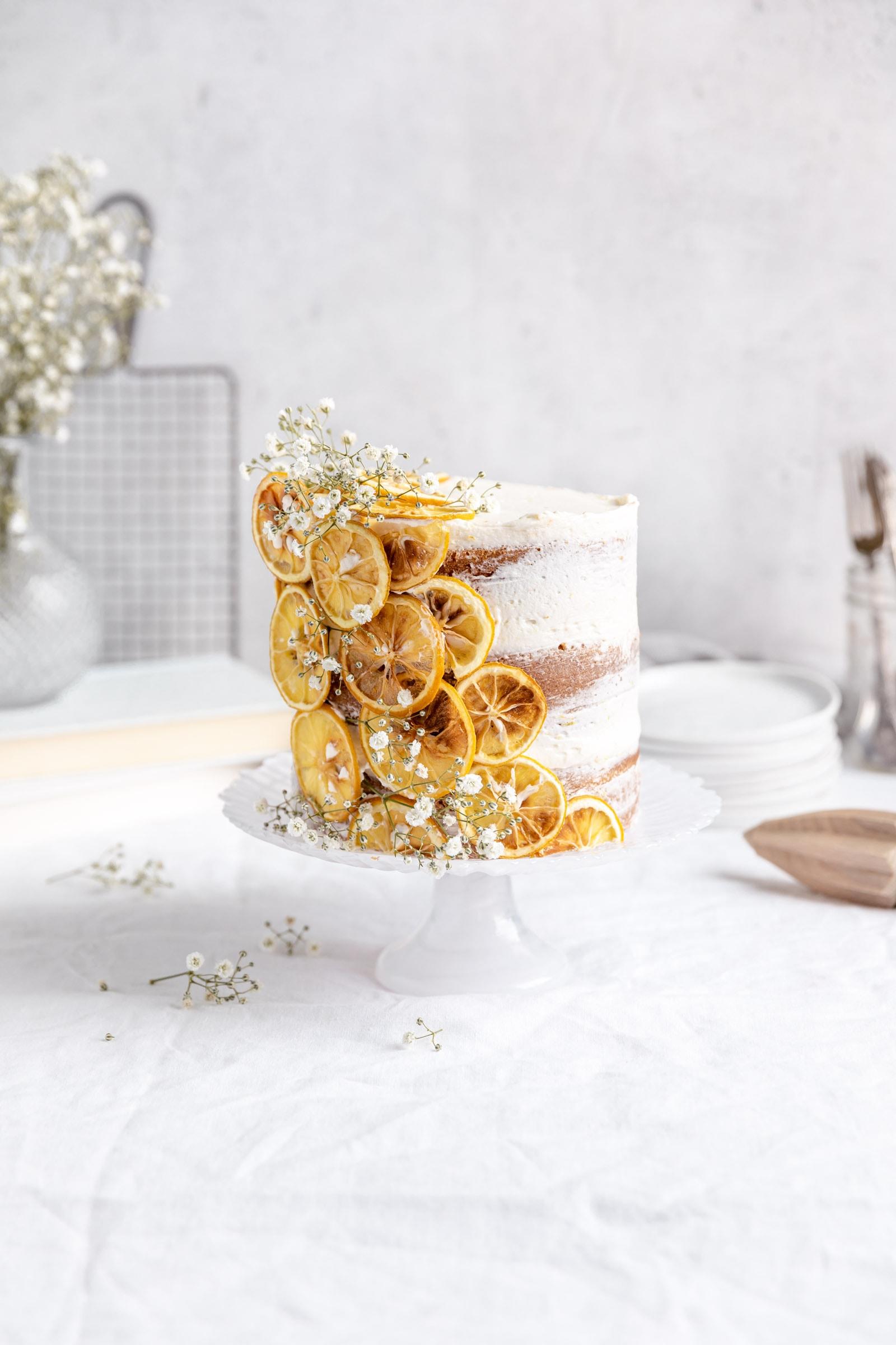lemon cake with dried lemons