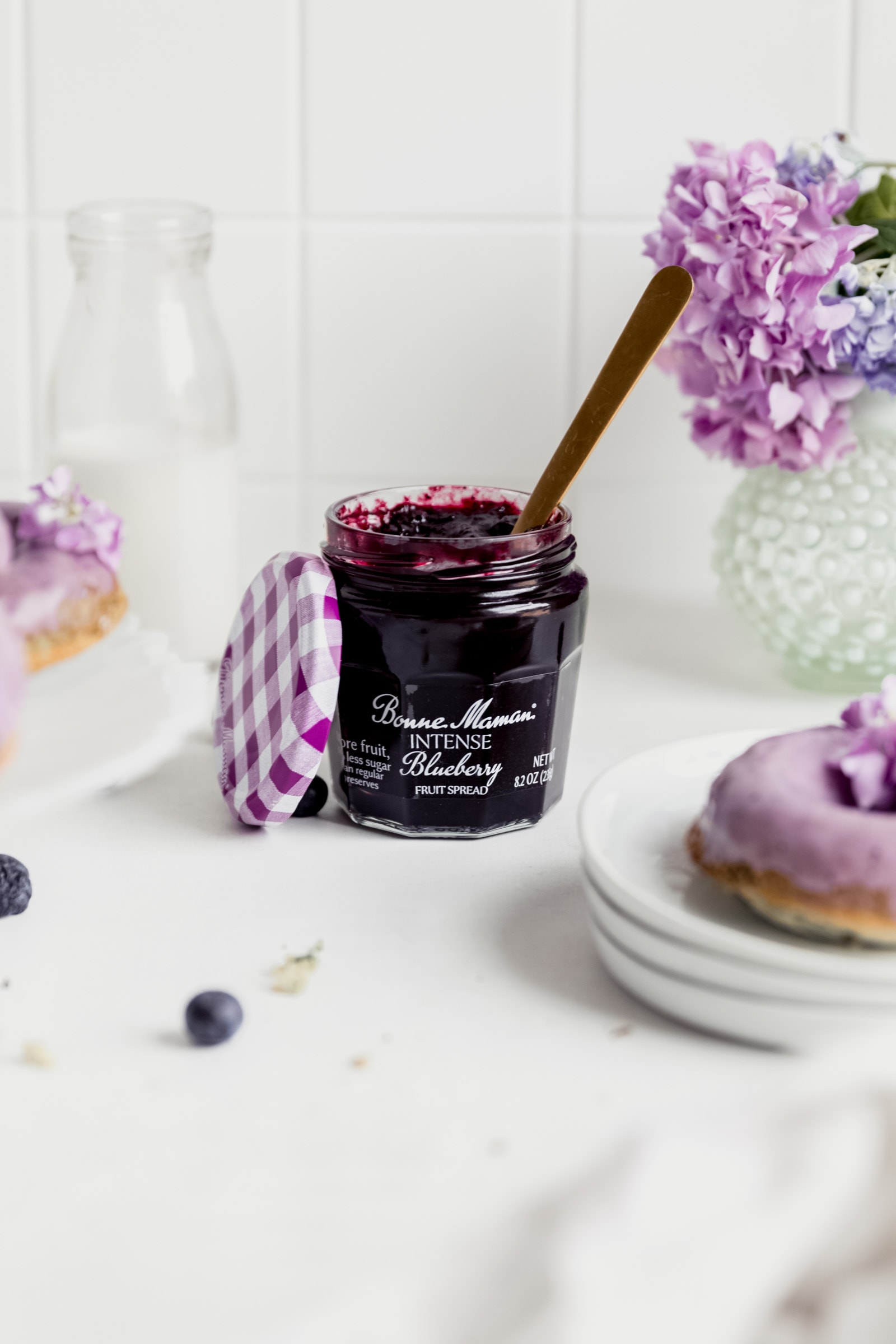 jar of bonne maman blueberry jam