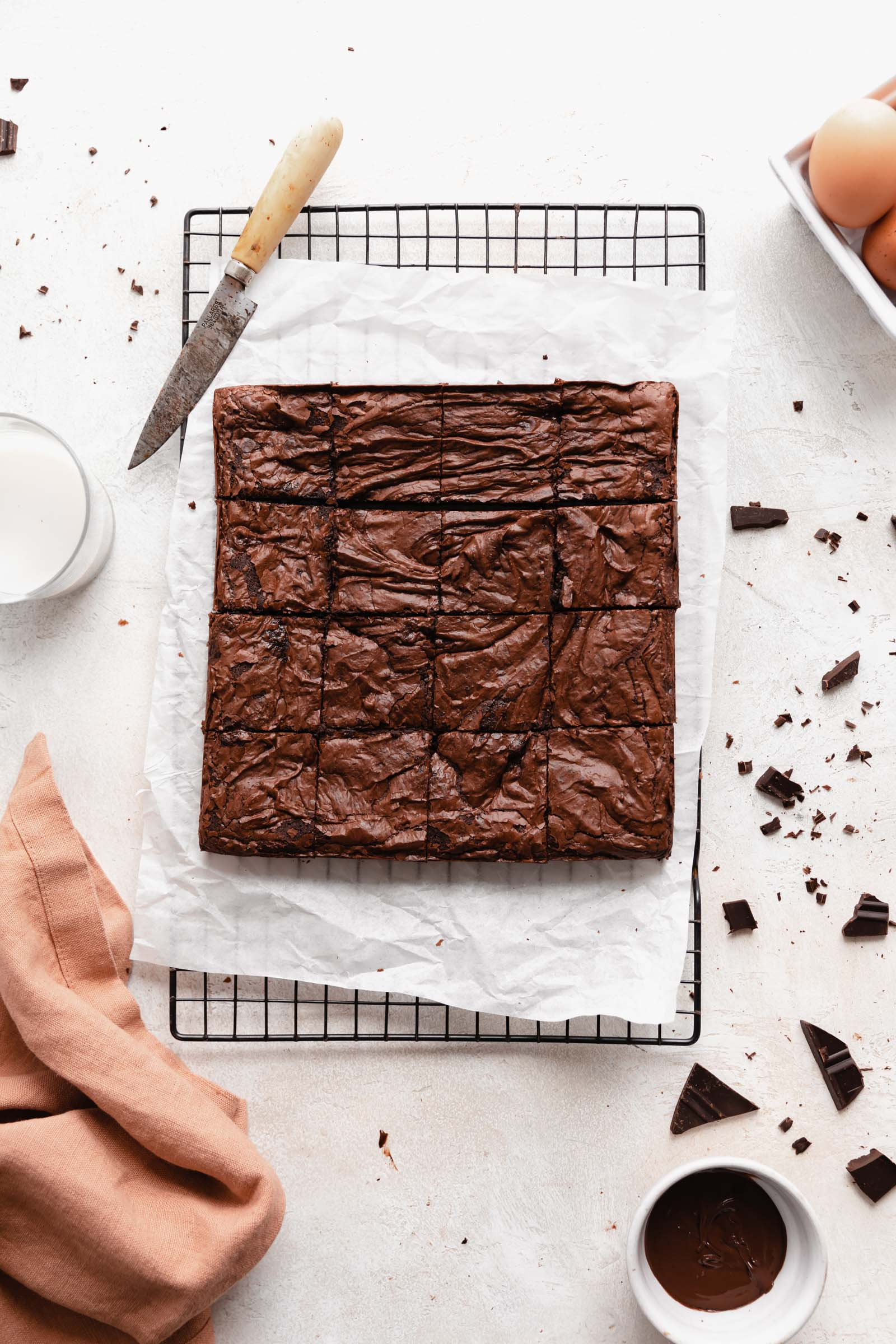 better than boxed brownies on a cooling rack