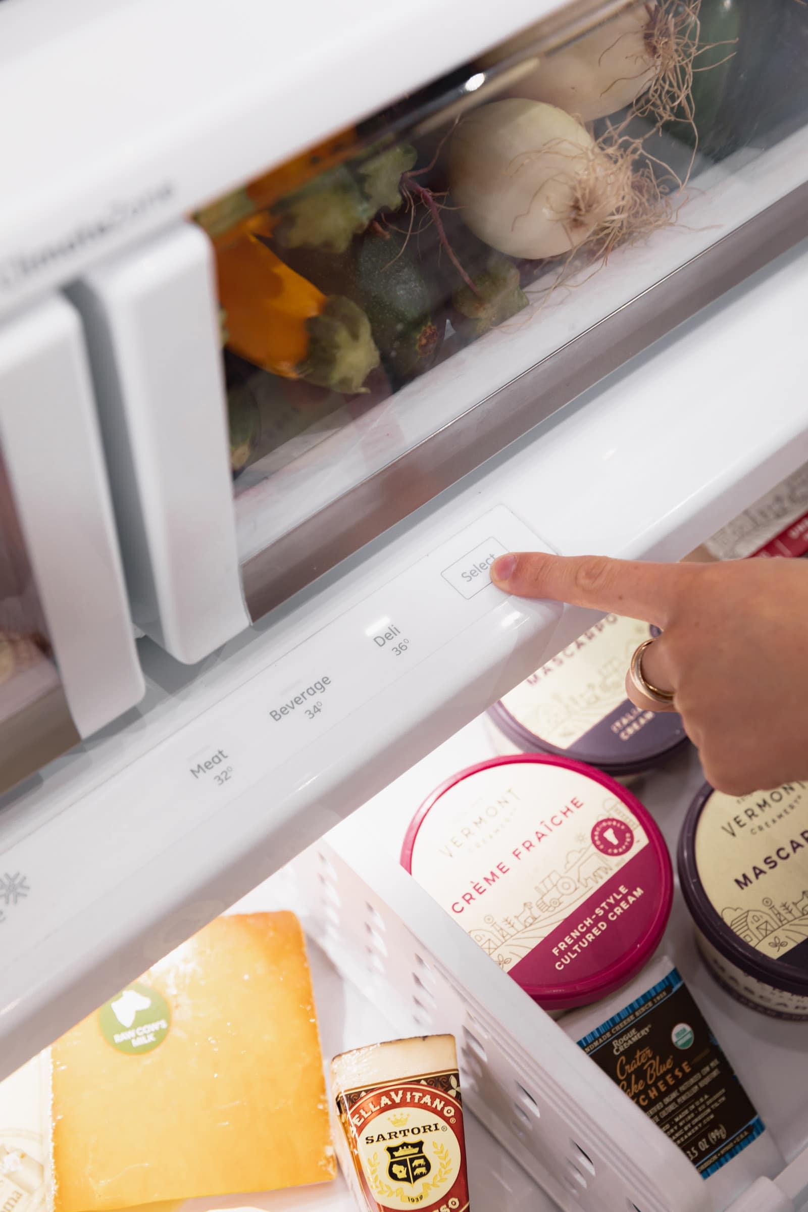 temperature control bottom fridge drawer