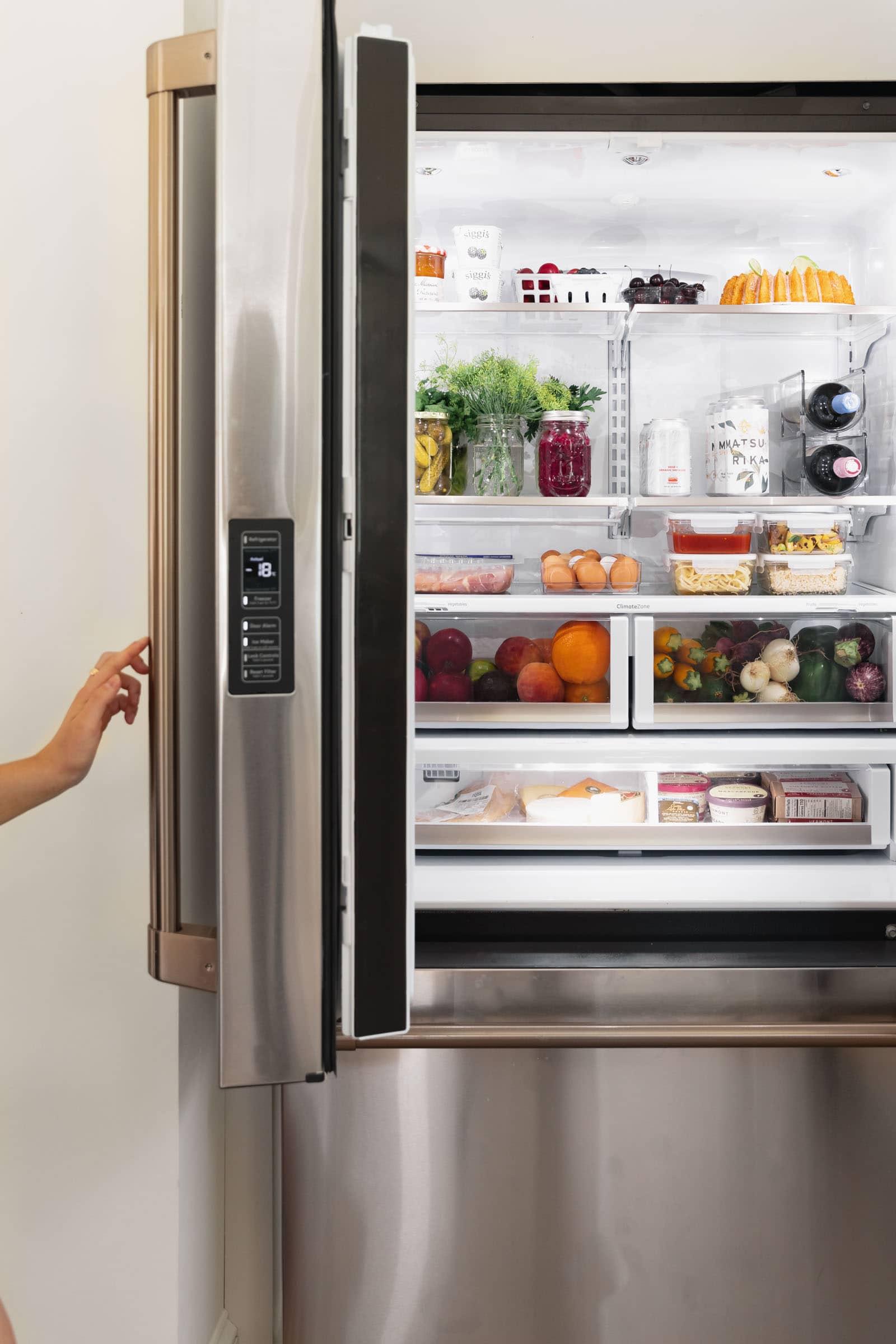 cafe appliances stainless steel fridge