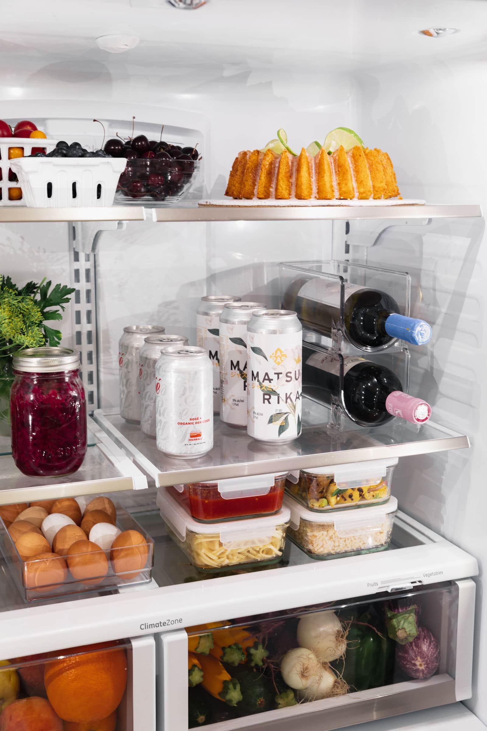 fridge organization in a Cafe Appliances refrigerator