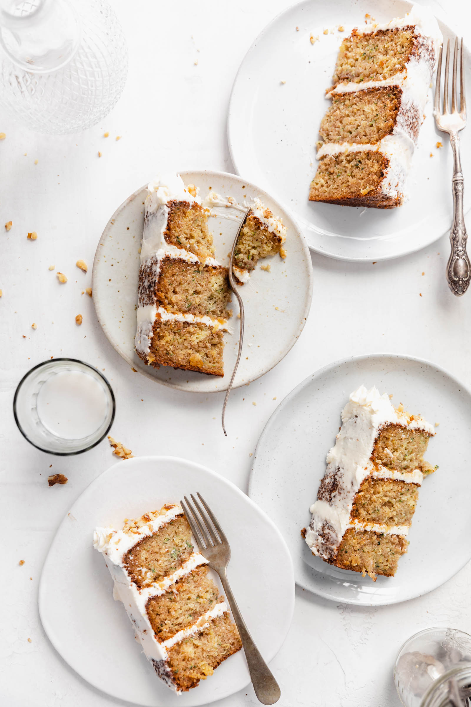 zucchini cake with cream cheese icing