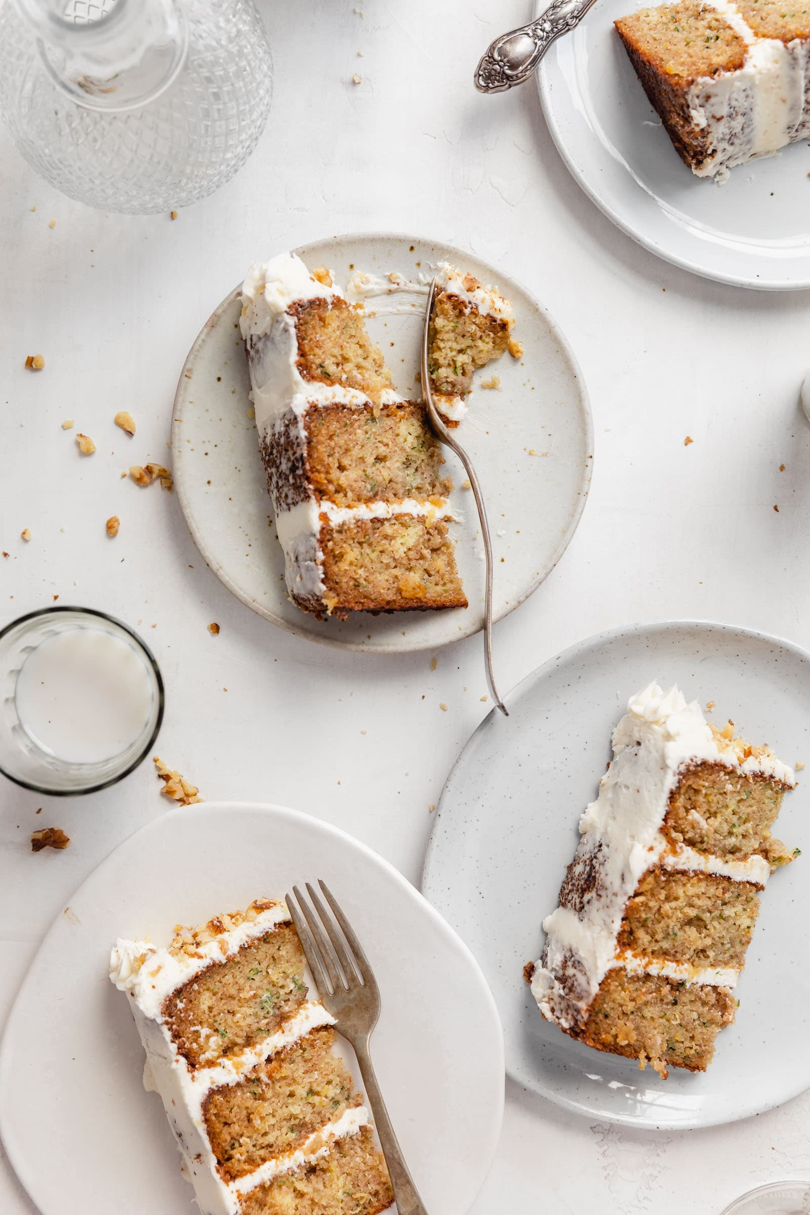 zucchini bread cake with cream cheese icing
