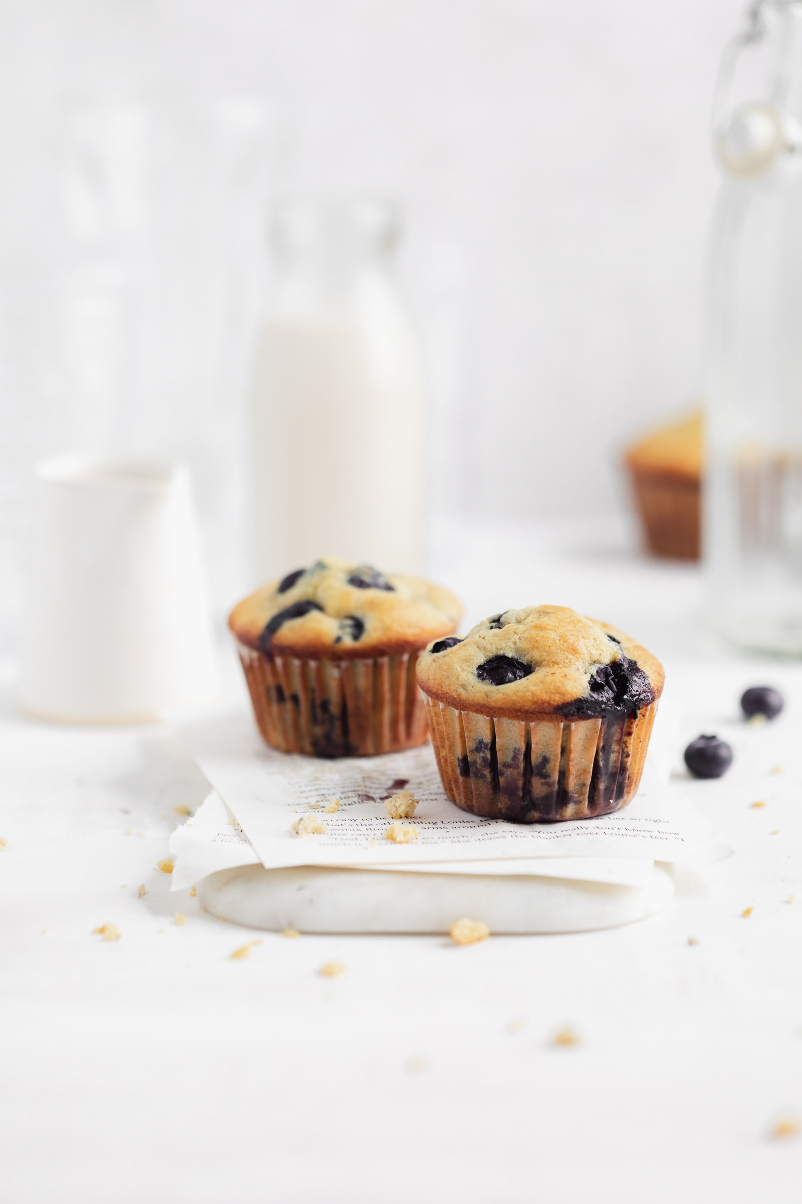 easy blueberry banana cornbread muffins