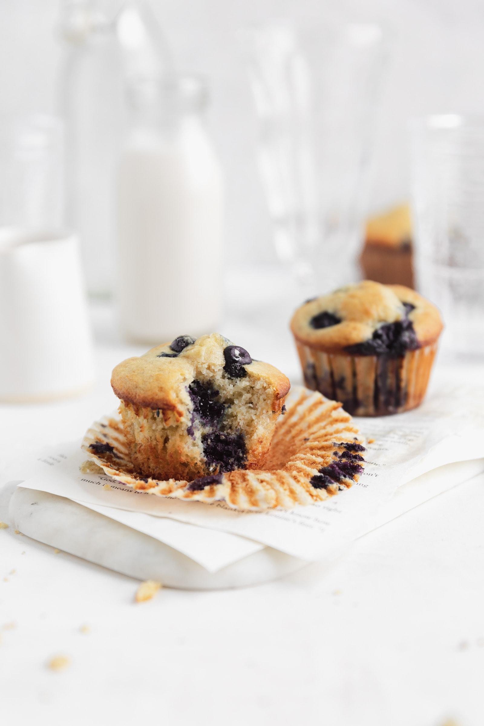 blueberry banana corn bread muffins