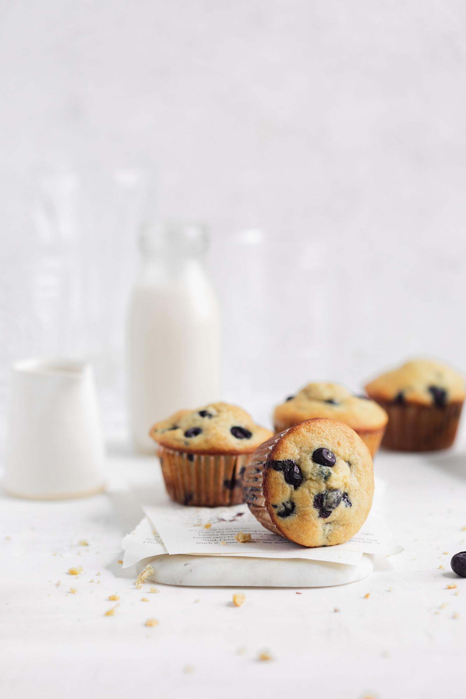 blueberry banana corn muffins