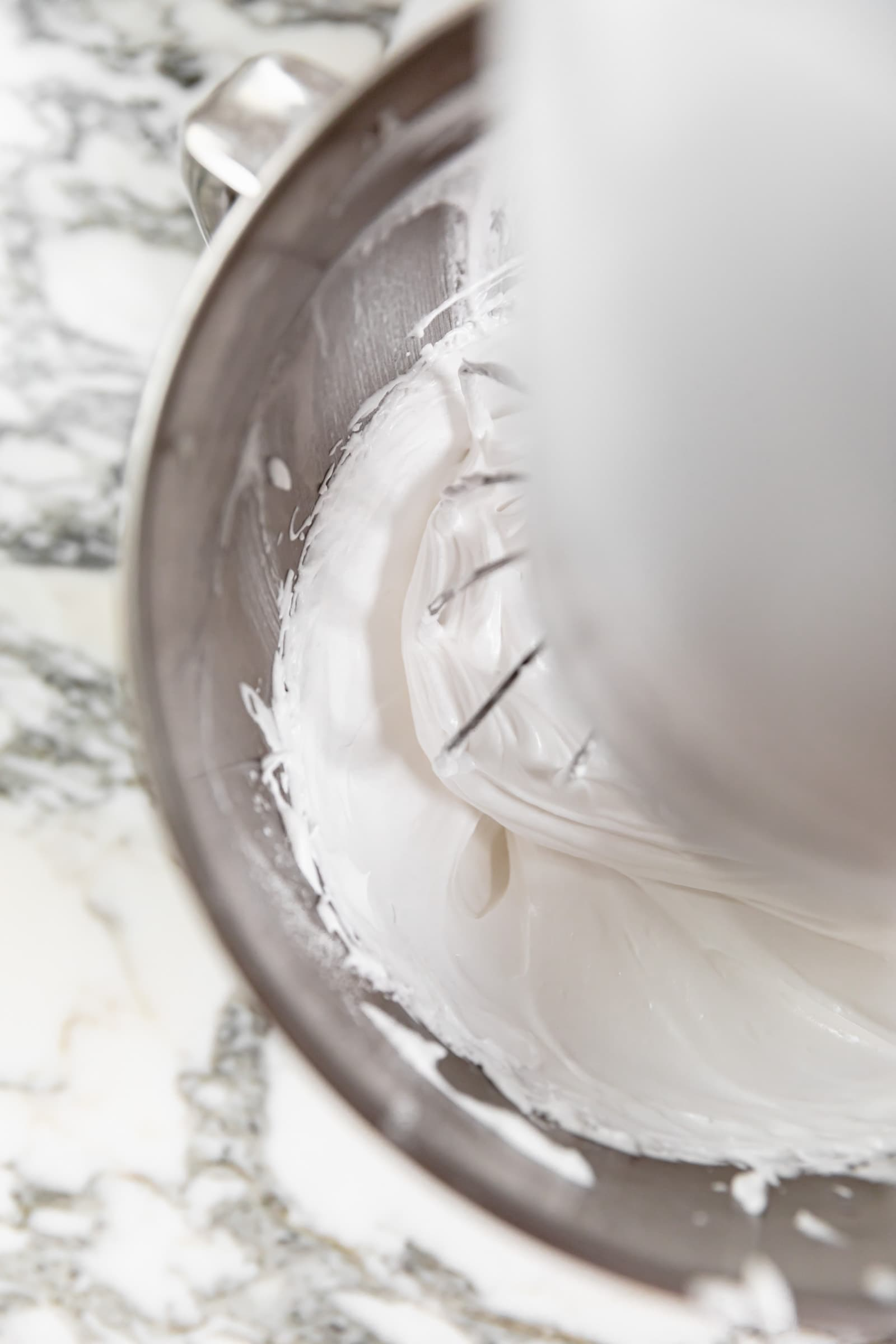 glossy egg whites in stand mixer