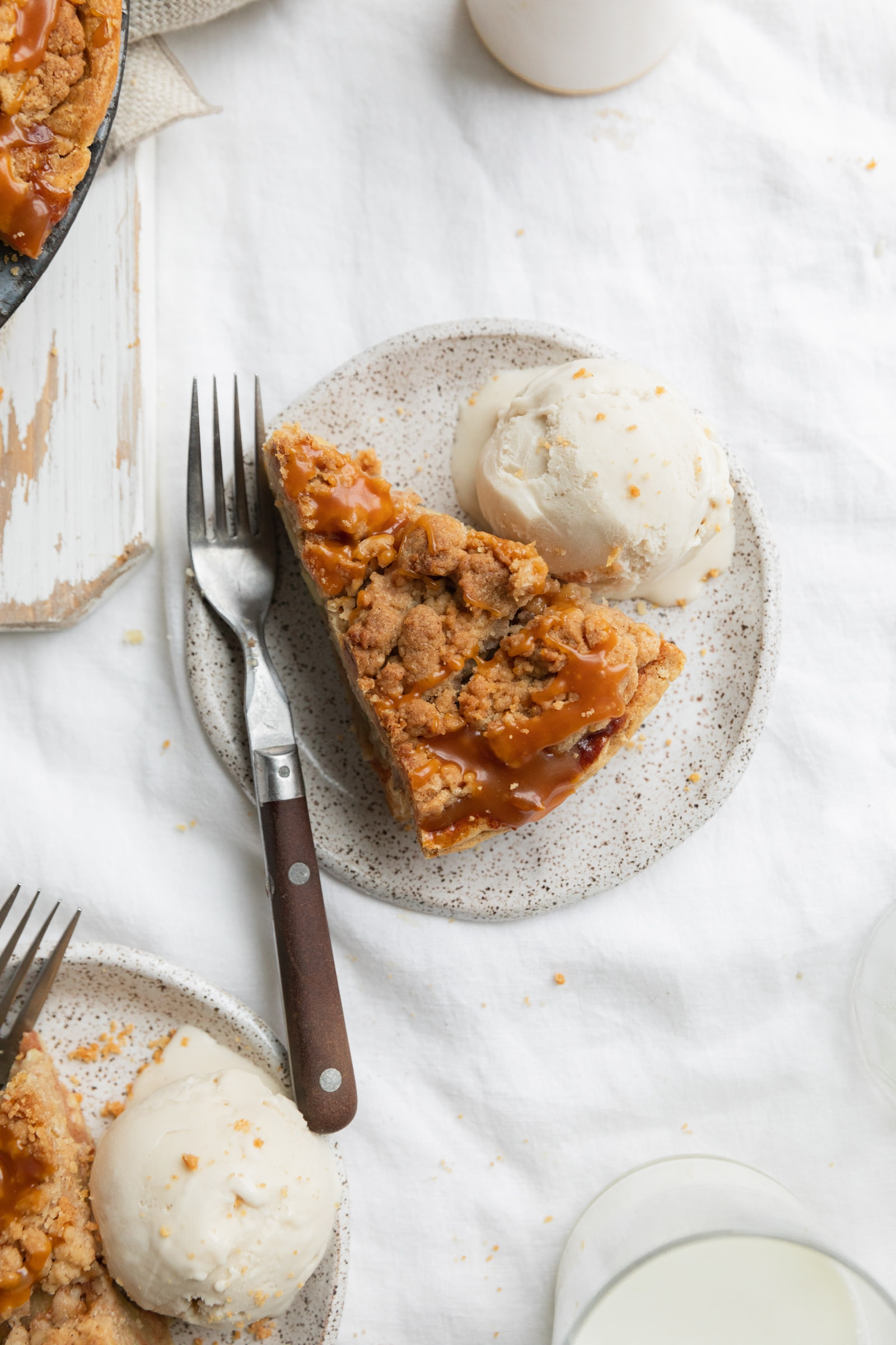 slice of dutch caramel apple pie