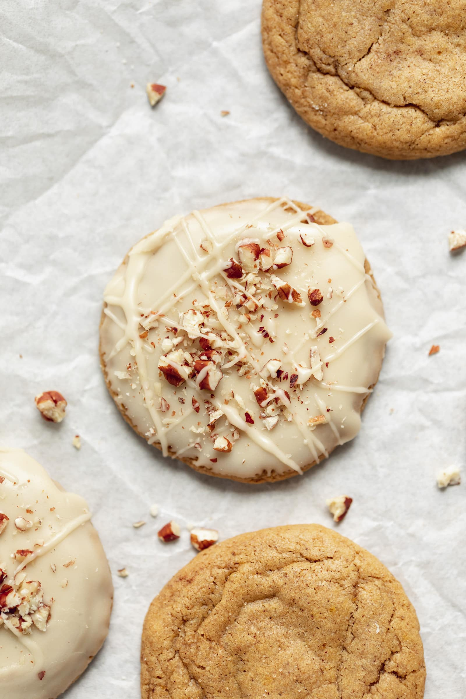 maple pumpkin cookies with frosting
