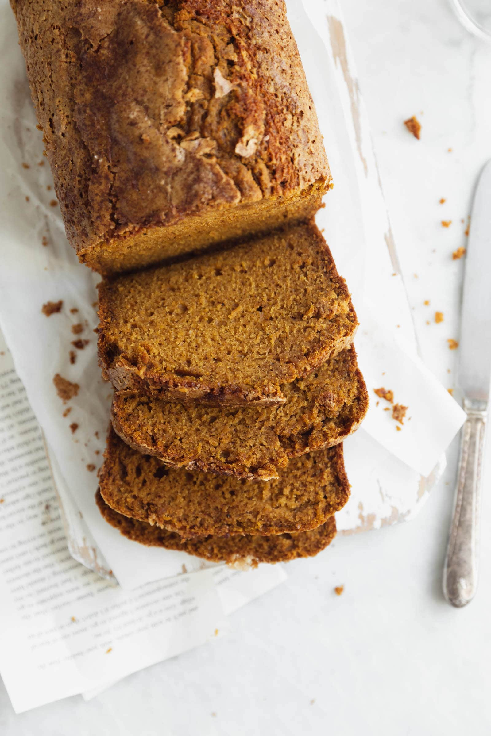 easy pumpkin bread loaf