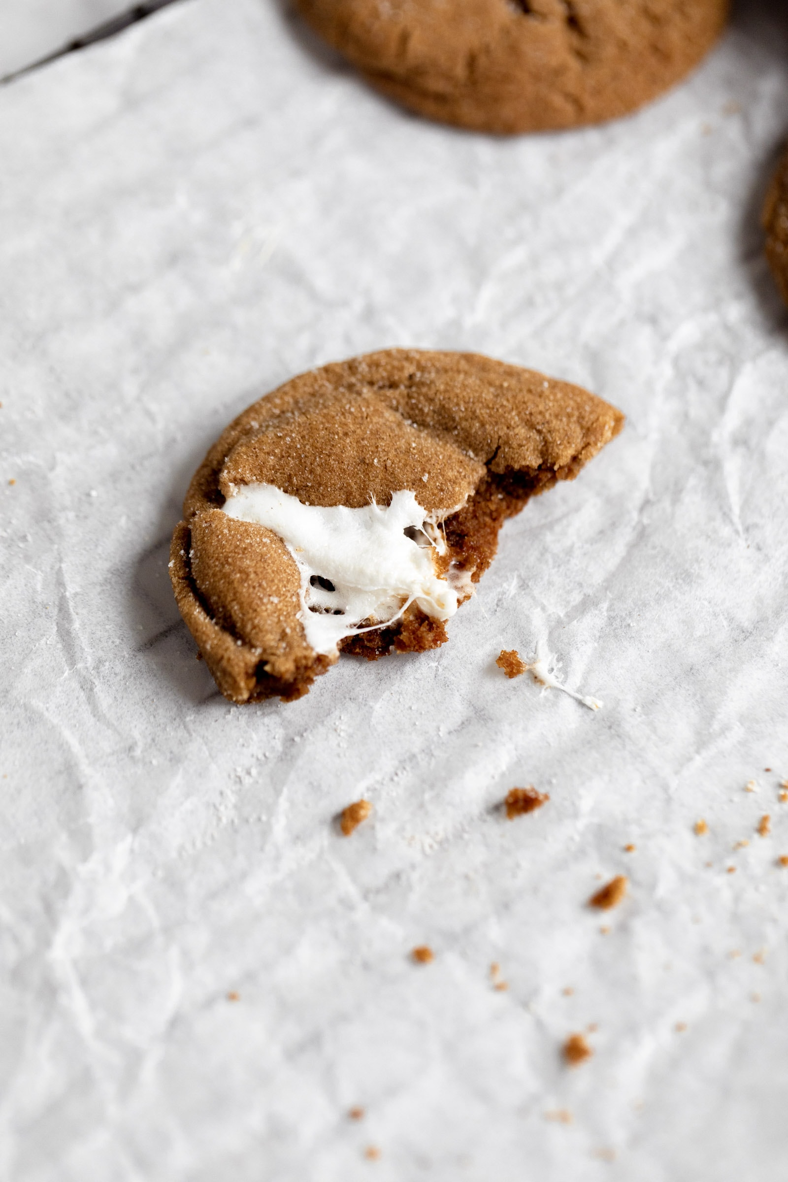 marshmallow molasses cookie
