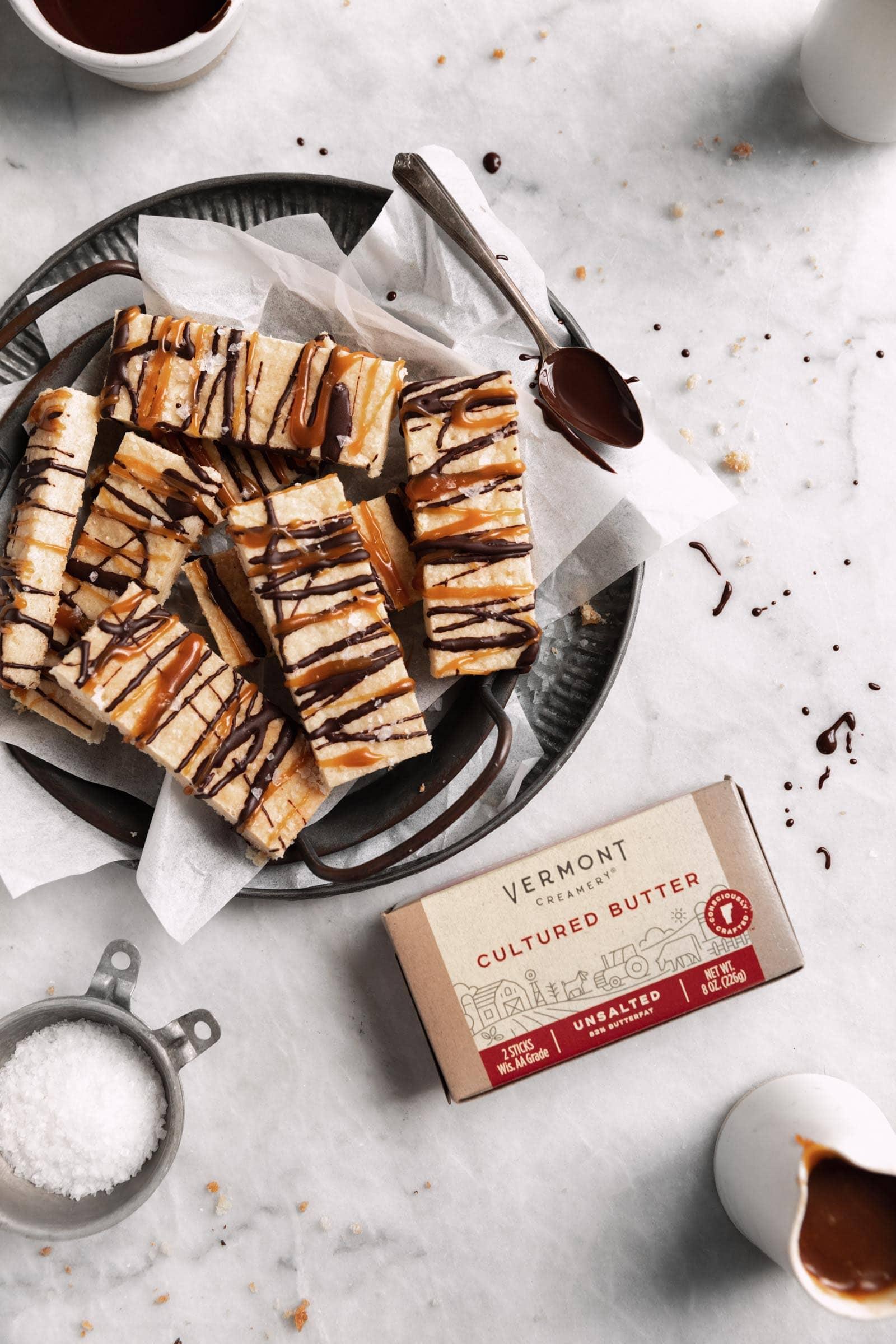 vermont creamery cultured butter shortbread bars