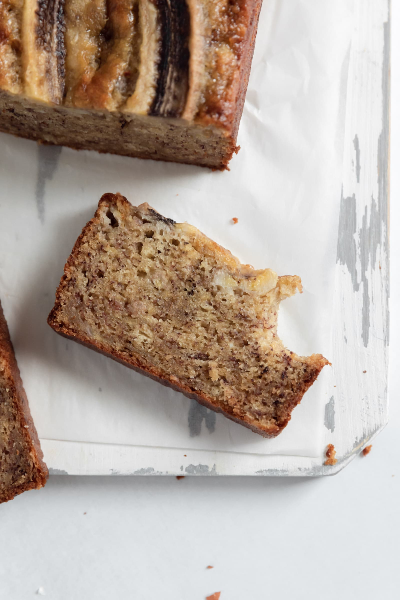 szelet egészséges banán kenyér