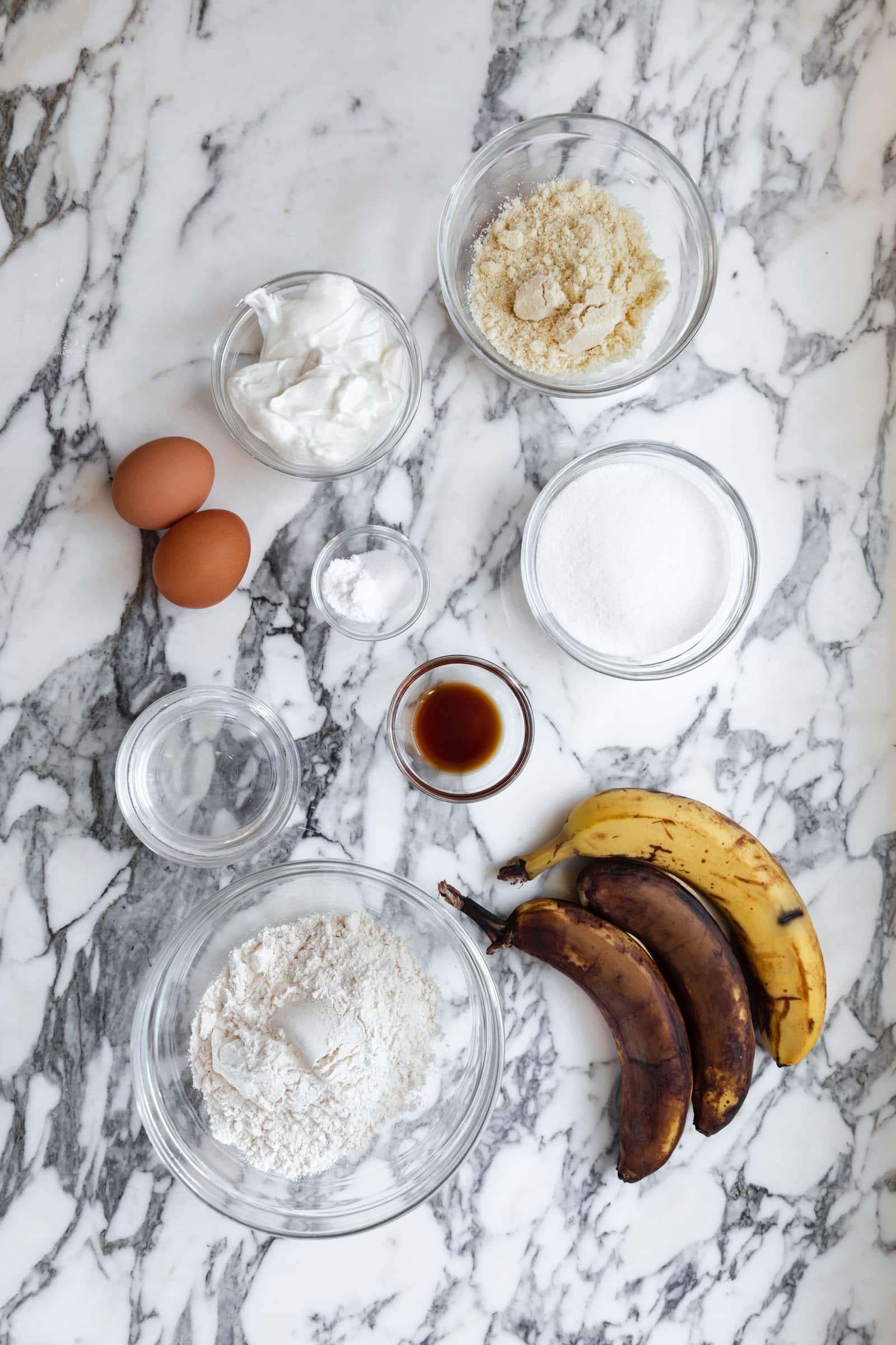 egészséges banán kenyér folyamat lövések