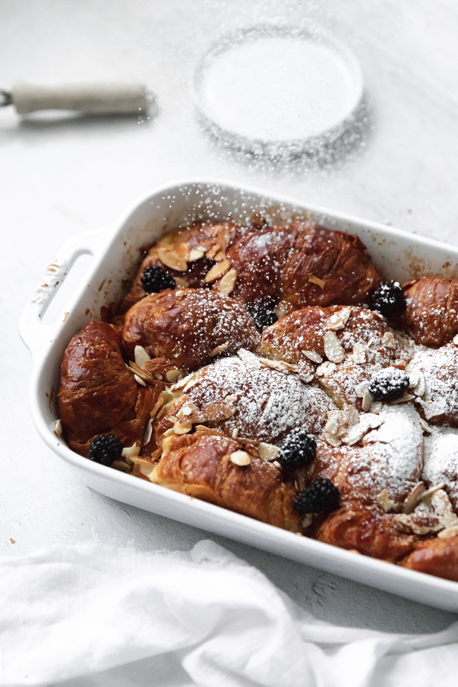 almond croissant french toast bake