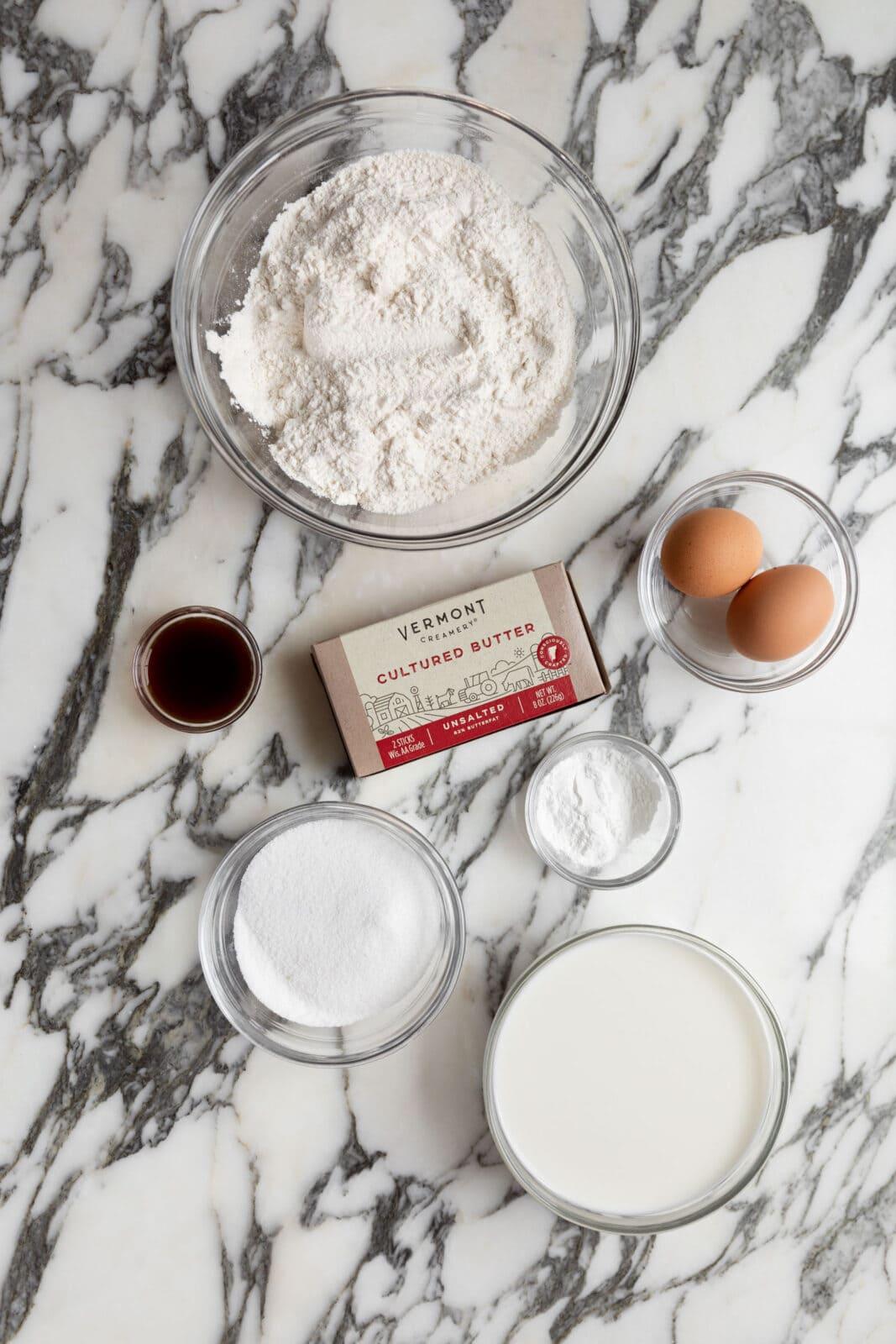ingredients for belgian waffles
