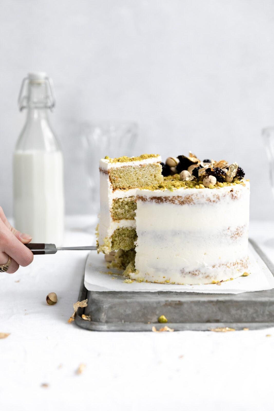 homemade pistachio cake